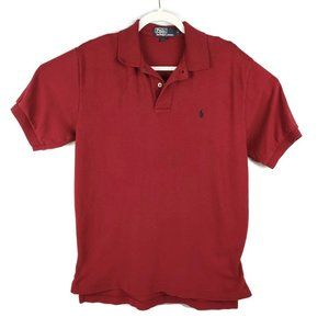Polo Ralph Lauren Polo Shirt 100% Cotton Red Mens